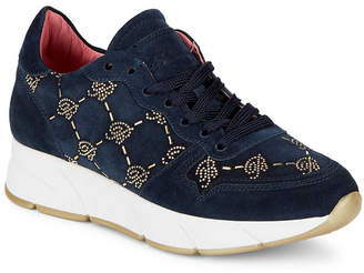 Blumarine Suede Beaded Sneaker
