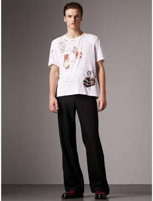 Burberry Sketch Print Cotton T-shirt