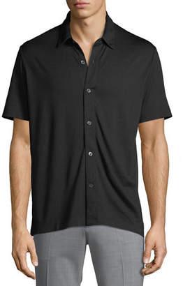 Theory Men's Short-Sleeve Knit Sport Shirt