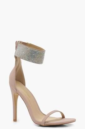 boohoo Diamante Cuff 2 Part Heels
