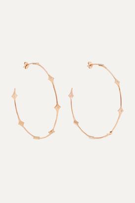 Diane Kordas Shield 18-karat Rose Gold Diamond Hoop Earrings - one size
