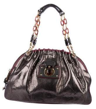 Marc Jacobs Metallic Snakeskin Karlie Bag
