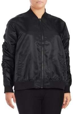 Rachel Roy Plus Plus Zip Bomber Jacket