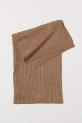 H&M Ribbed Cashmere Scarf - Beige