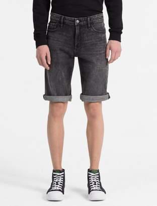 Calvin Klein denim faded black shorts