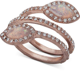 lonna & lilly Pave & Stone Spiral Ring