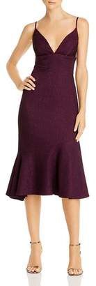 Avery G Flounce Midi Dress