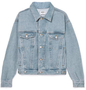 A Gold E Agolde Charli Oversized Denim Jacket