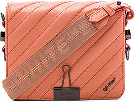 Off-White Diagonal Quilted Flap Bag