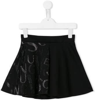 Versace rhinestone embellished skirt
