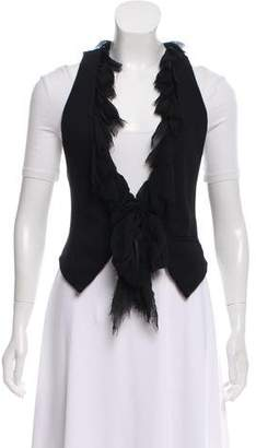 Elizabeth and James Silk-Trimmed Vest