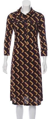Diane von Furstenberg Button-Up Midi Dress