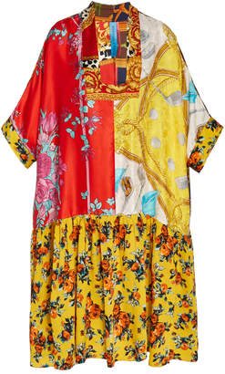 Of A Kind Rianna + Nina Exclusive One Silk Square Neck Dress