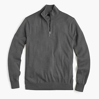 J.Crew Slim Italian merino wool half-zip sweater