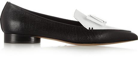 Nicholas Kirkwood + Erdem two-tone leather point-toe flats