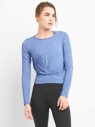 Gap GapFit Breathe Long Sleeve Crop T-Shirt