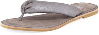 Eileen Fisher Flue Flat Metallic Leather Thong Sandal