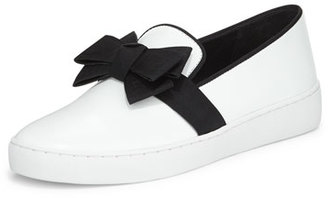 Michael Kors Val Runway Bow Skate Shoe, Optic White $275 thestylecure.com