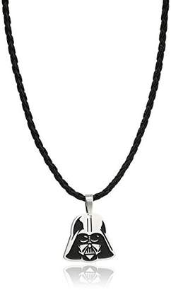 Star Wars Jewelry Darth Vader Enamel Small Leather Pendant Necklace