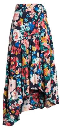 Eliza J High/Low Tiered Skirt