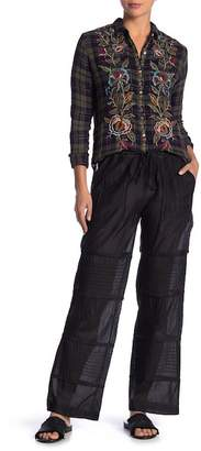 Johnny Was Dima Embroidered Cotton & Silk Blend Pants
