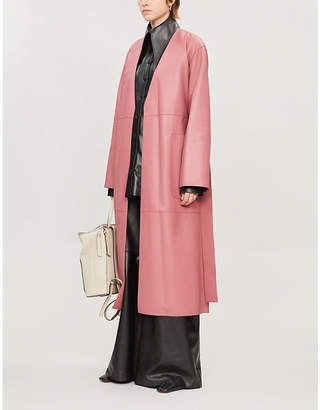 Loewe Leather wrap coat