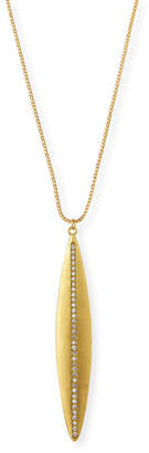 Dominique Cohen Navette Diamond Pendant Necklace in 18K Yellow Gold