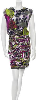 Rachel Roy Silk Printed Dress $75 thestylecure.com