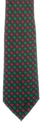Hermes Silk Chain-Link Print Tie