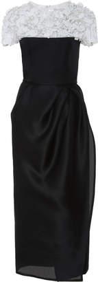 Carolina Herrera Embellished Wrap Dress