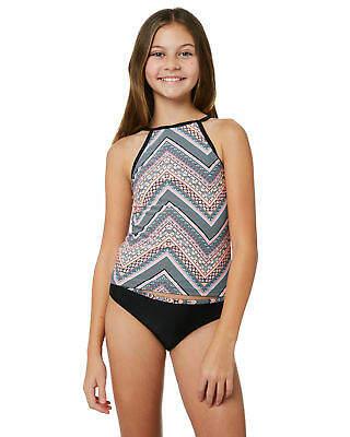 Rip Curl New Girls Kids Girls Mystic Sun Tankini Polyester Black