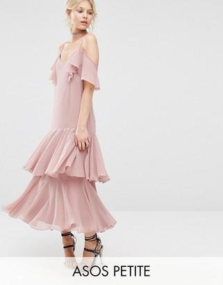 ASOS Petite ASOS PETITE Premium Maxi Dress with Frill Hem $89 thestylecure.com