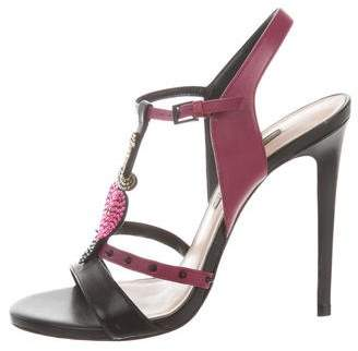 Ruthie Davis Heart & Dagger Leather Sandals w/ Tags