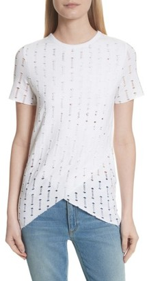 Women's Twenty Perforated Tee $95 thestylecure.com
