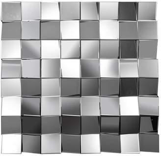 Abbyson Living Karina Silver Square Wall Mirror