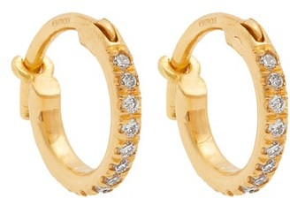 Ileana Makri Diamond & Yellow Gold Earrings - Womens - Yellow Gold