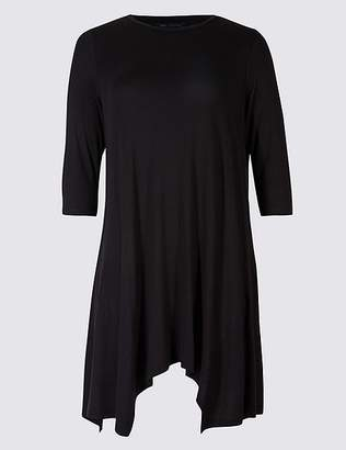 Marks and Spencer CURVE Round Neck 3⁄4 Sleeve Tunic