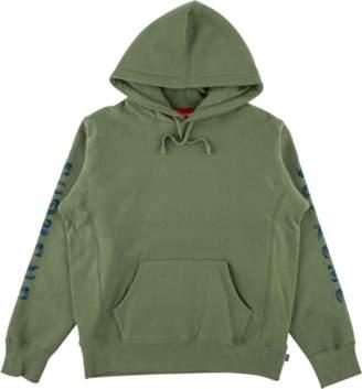 Supreme Gradient Sleeve Hooded Sweatsh - 'FW 18' - Light Olive