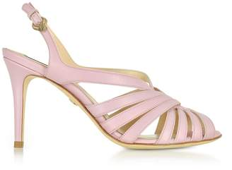 Roberto Cavalli Mauve Leather Sandals