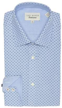 28c6d1d3f650cb Ted Baker Forrester Endurance Printed Trim Fit Dress Shirt