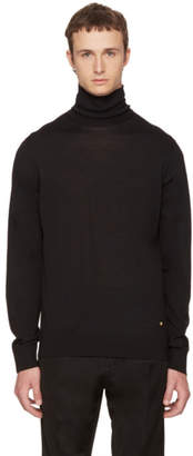 Versace Black Wool Turtleneck