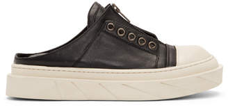 D by D Black and White Mule Sneakers