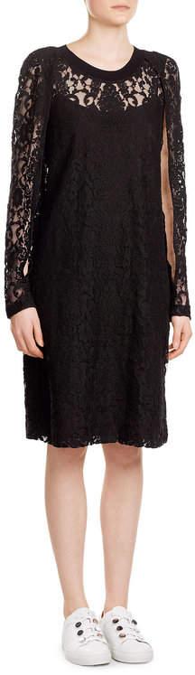 DKNYDKNY Cotton Blend Dress with Lace
