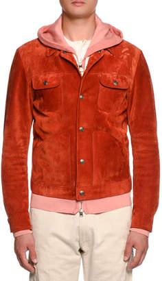 Tom Ford Cashmere-Trim Suede Western Jacket