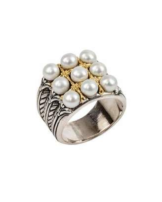 Konstantino Thalia Multi-Pearl Grid Ring, Size 7