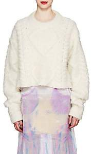 Maison Margiela Women's Brushed Cable-Knit Alpaca-Blend Sweater - White