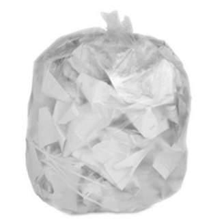 Rubbermaid Toughbag Compatible 44 Gallon Trash Bag 100 Garbage Bags (Clear)