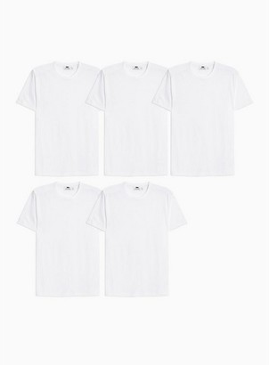 Topman Mens White T-Shirt 5 Pack*