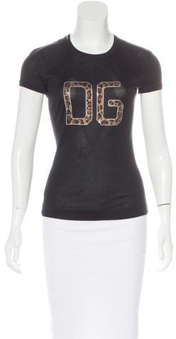 Dolce & GabbanaDolce & Gabbana Embellished Short Sleeve Top