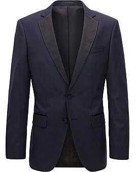 HUGO BOSS Slim-Fit Virgin Wool Jacket With Silk Details